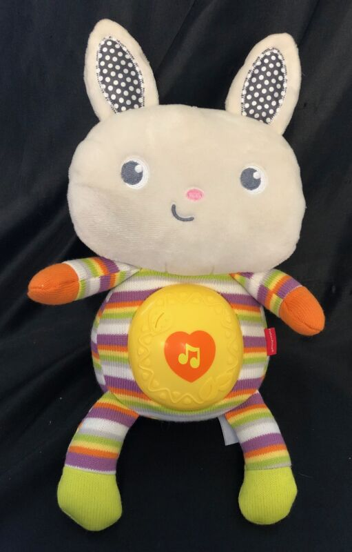 "Fisher Price SWEET SOUNDS BUNNY Musical Light-Up Soother 11"" Plush Lullaby"
