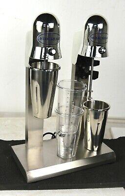 New Commercial Double Heads Milkshake Mixer Drink Milk Shake Maker Machine 110v
