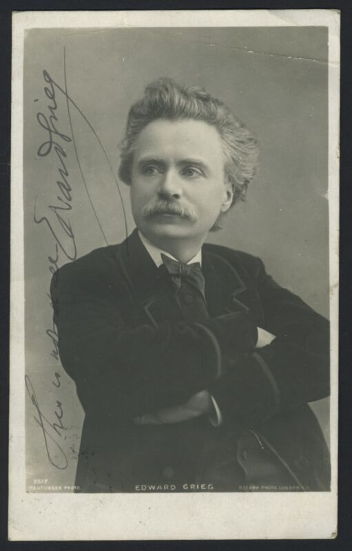 Edvard GRIEG (Composer): Signed Postcard Photograph of the Norwegian Composer