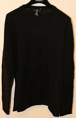 Roberto Collina Alpaca Wool Blend Sweater Size Medium 48 Brand New Navy Black