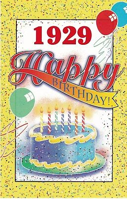 Birthday Card with Envelope 1929 Year of Birth