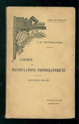 NIEWENGLOWSKI CHIMIE DES MANIPULATIONS PHOTOGRAPHIQUES GAUTHIER VILLARS MASSON