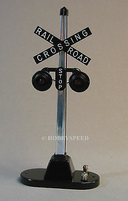 LIONEL 154 RAILROAD CROSSING SIGNAL FLASHER o gauge train illuminated 6-12888