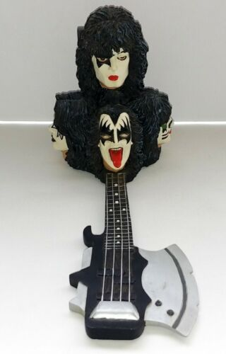 KISS Band Gene Simmons Axe Bass Incense Burner 2004 Ace Frehley Peter Paul
