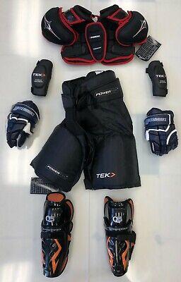 New junior medium pants gloves shin elbow shoulder set Jr. ice hockey equipment