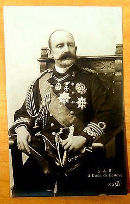 S.A.R. Il Duca di Genova Thomas of Savoy-Genoa Photo Postcard 1910 Italy Royalty