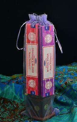 Incense Gift Bag - A Selection Of Incense Cones, Sticks & Burner Fair Trade Joss