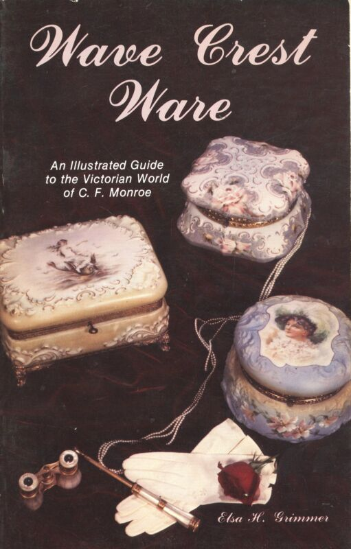 Monroe Wave Crest Art Glass - Types Design Numbers Etc / Scarce Book + Values