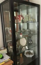 Elegant black timber and glass cabinet New Lambton Heights Newcastle Area Preview