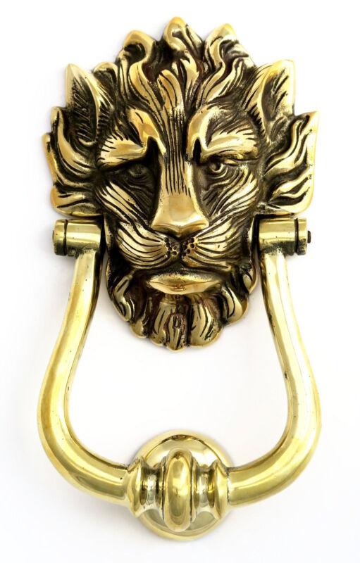 Solid Brass Lion's Head Door Knocker  Number 10 Downing Street Door Knockers NEW