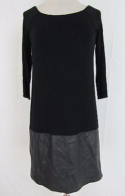 Ali & Jay New Faux-Leather Trim Shift Dress Size S MSRP $128 #AN 1261 - Ali Clubwear