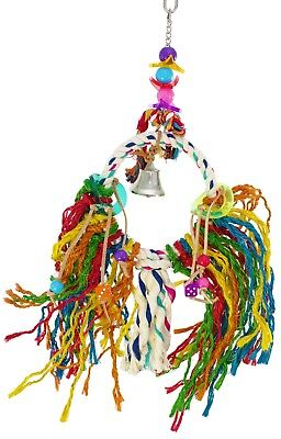 1758 Small Fuzz Rope Ring Bonka Bird Toy parrot cage toys cages conure cockatiel