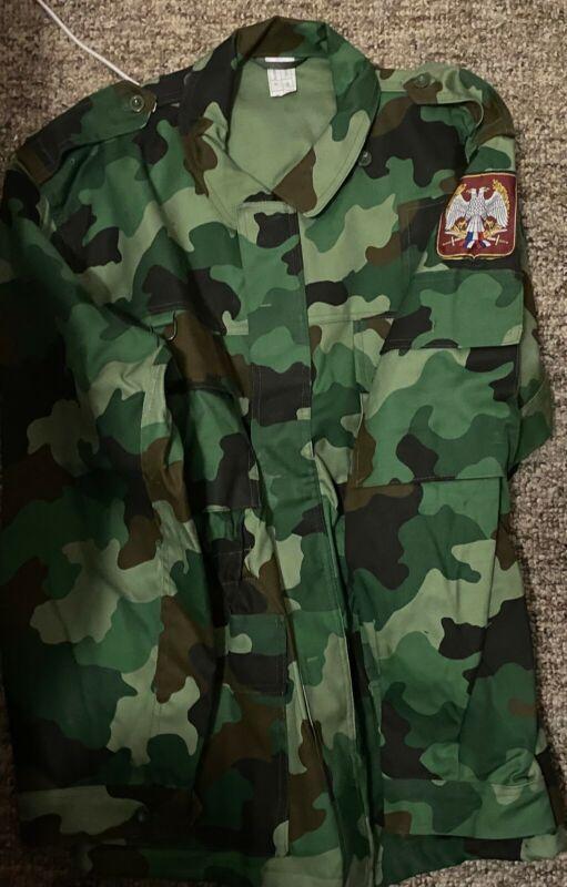 Yugoslavian Serbian Camo Summer Jacket Surplus Military Army Medium/Large NOS