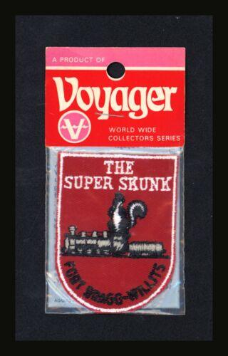 Super Skunk Train Fort Bragg North Carolina Vintage Voyager Travel Patch