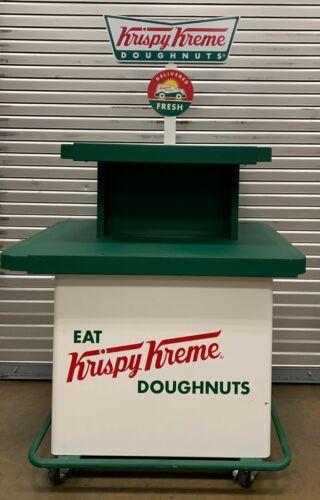 Krispy Kreme Display Rolling Cart for bakery, grocery store bakery display