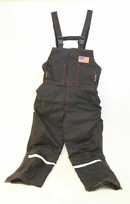 Majestic Blazetex Flame Resistant Fr Insulated Welding Overall Black W Usa Flag