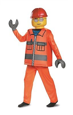 New Construction Worker Lego Deluxe Child Costume by Disguise 18212 Costumania - Kids Couples Costumes