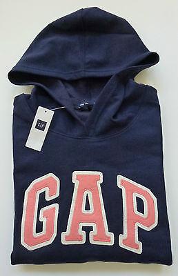 Womens Gap Logo Navy Blue Hoodie Sweatshirt Sizes Xl   2Xl   Nwt