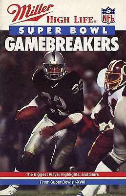 1984  Super Bowl Gamebreakers  Booklet By Miller High Life Beer  29 Pages