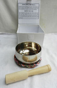 Tibetan-Brass-Singing-Bowl-Cushion-and-Striker-in-White-Ribboned-Box