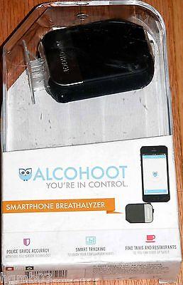 ALCOHOOT SMARTPHONE BREATHALYZER AHT101 BLACK - NEW