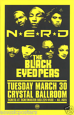 N.E.R.D./THE BLACK EYED PEAS 2015 PORTLAND CONCERT TOUR POSTER -Pharrell, Fergie