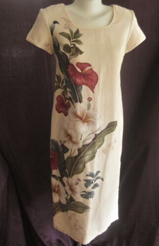 Vintage IOLANI made in HAWAII BARK CLOTH DRESS Women