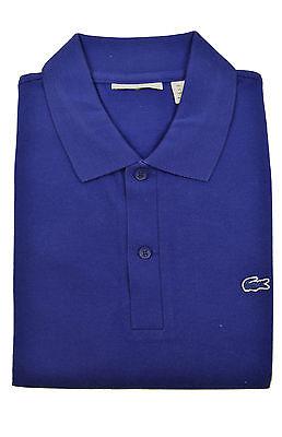 Lacoste Mens Royal Blue Color block Striped Pique Polo Shirt Sz Fr 4 Us Medium M