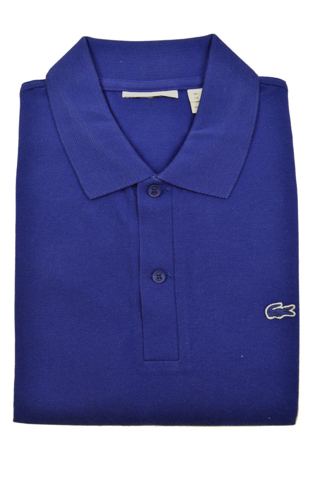 Lacoste Mens Royal Blue Color block Striped Pique Polo Shirt Sz Fr 3 Us Small S