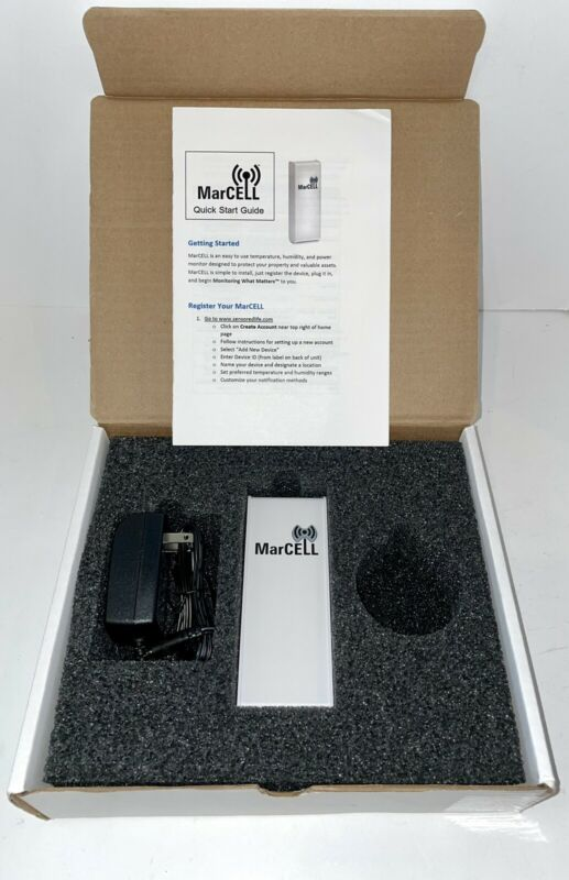 MarCELL Cellular Power, Temperature & Humidity Monitor System (Verizon) NEW