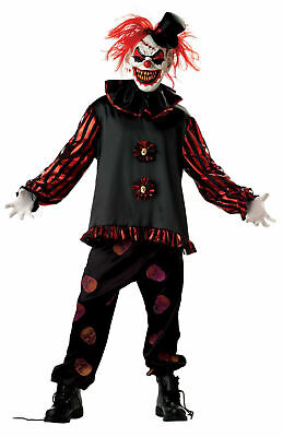 Carver The Clown Costume (HALLOWEEN ADULT EVIL CARVER THE KILLER CLOWN COSTUME MASK PROP)