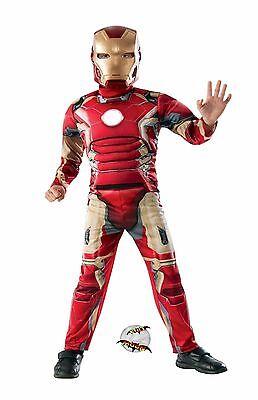 New Avengers Iron Man Halloween Costume Deluxe Muscles Child   - Iron Man Costume Baby
