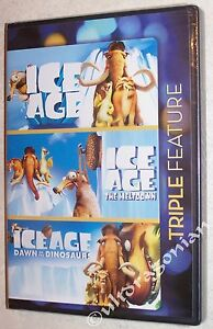 ICE AGE 1 2 3 Trilogy DVD Set The Meltdown Dawn of The Dinosaurs Triple NEW