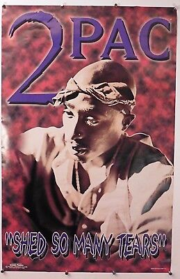 """2 PAC  Poster """"Shed So Many Tears""""  Rare Vintage  22.25"""" X 34.25"""""""