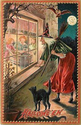 Bobbing For Apples Halloween (Raphael Tuck, Bobbing For Apples, Halloween Bobbing For Apples Print Or)