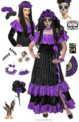 Plus Size Costume Day of the Dead Costume Sizes LG XL 0x 1x 2x 3x 4x 5x 6x 7x 8x