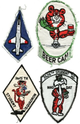 USAF STUDENT SQUADRON PATCH LOT T-38 3615 3526 ALL UNIFORM REMOVED!