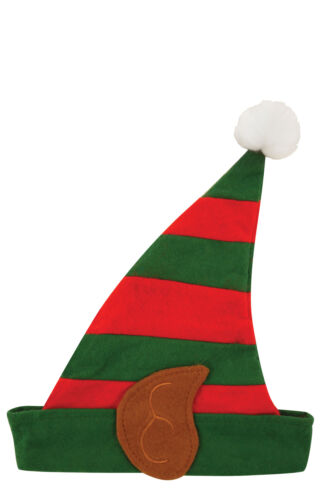 5+x+Childrens+Elf+Hat+with+Ears+-+Christmas+Fancy+Dress+Costume+Prop+School+Play
