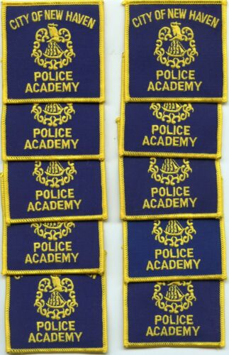 NEW HAVEN CONNECTICUT POLICE ACADEMY Trade Stock 10 Police Patches POLICE PATCH