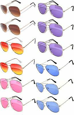 12 aviator lens metal sunglasses