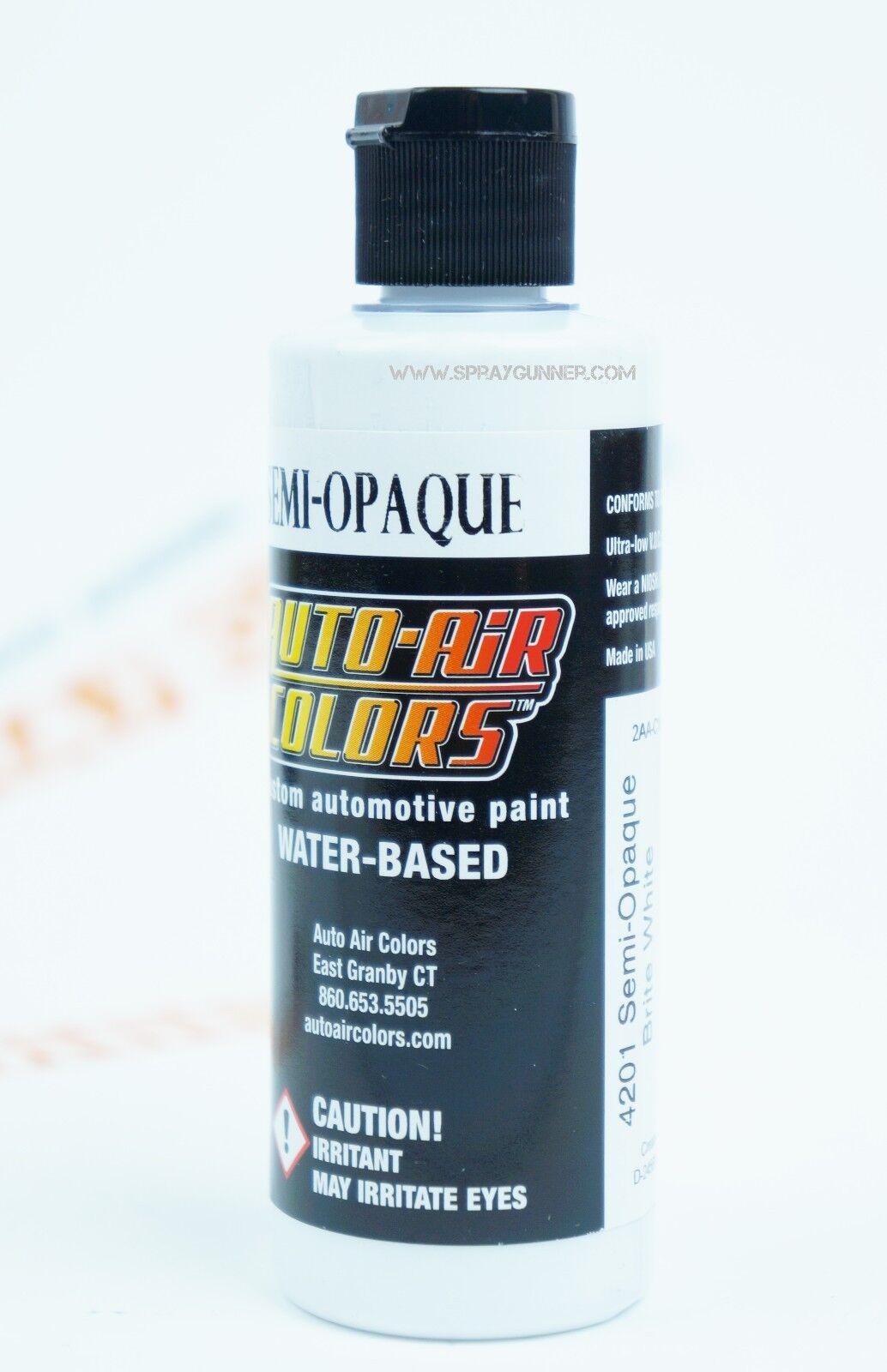 Createx Auto-Air Colors 4oz Semi-Opaque Brite White 4201 Cus