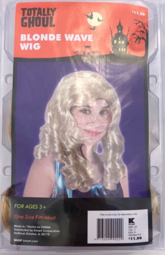TOTALLY GHOUL BLOND WAVE WIG FITS MOST HALLOWEEN COSTUME ACCESSORY BRAND NEW B6