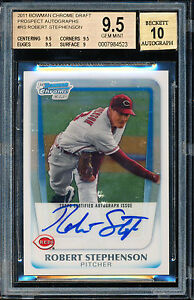 2011 BOWMAN CHROME ROBERT STEPHENSON  BGS 9.5 10 AUTO