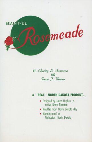 North Dakota Rosemeade Pottery Marks Types incl. Figurines / Book + Values