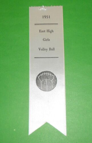 1951 - EAST HIGH SCHOOL Girls Volley Ball Ribbon Erie, Pennsylvania PA