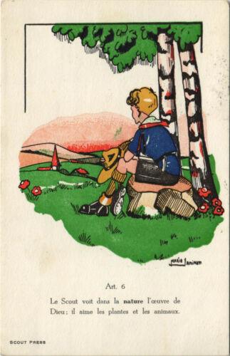 PC SCOUTING, LE SCOUT VOIT DANS LA NATURE, Vintage Postcard (b28375)