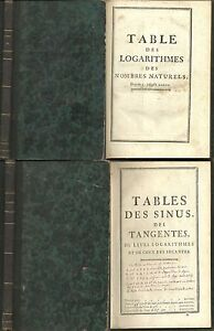 tables des logarithmes sinus tangentes math matiques rivard 1743 desaint ebay. Black Bedroom Furniture Sets. Home Design Ideas