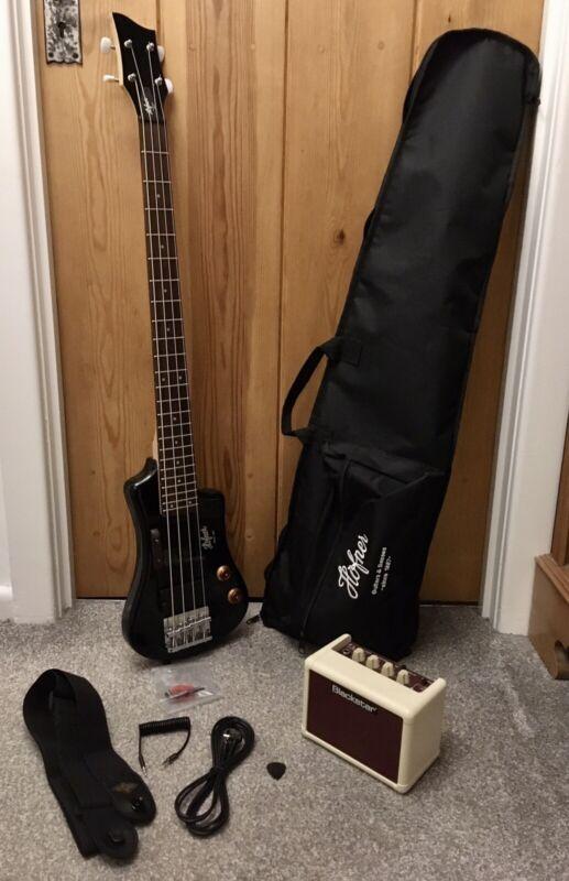 Hofner Shorty Bass with Blackstar Fly amp