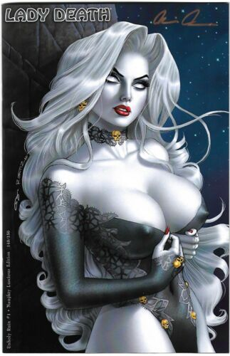 """Lady Death Unholy Ruin 1. """"Luscious"""" Variant. Ortiz Cover."""