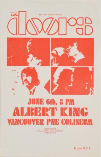 The Doors / Albert King June 6th 1970 Vancouver PNE Coliseum Authentic Handbill
